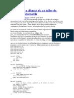 Registro Para Clientes de Un Taller de Mecanica Automotriz