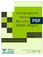 Challenges to Women Security in the Middle East & North Africa