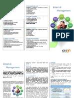 Brochure corso Errori di Management