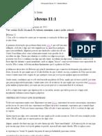 A fé segundo Hebreus 11_1 - Estudos Bíblicos