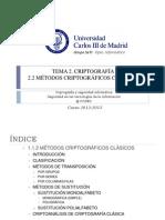 Criptografía clásica y criptoanálisis