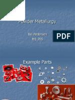 Lecture 18 - Powder Metallurgy