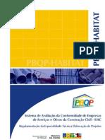 Regimento da especialidade Técnica - Elaboração de Projetos -SiAC
