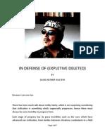 In Defense of (Expletive Deleted)