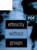 [Rogers Brubaker] Ethnicity Without Groups