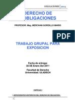Derecho de Obligaciones 2013