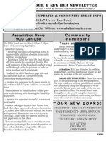 shk hoa newsletter - march 2013