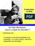 A Educadora No Nido Montessori