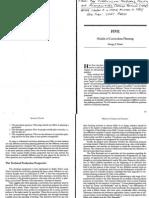 Models of Curriculum Planning - Posner