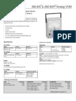 Simpson 260-8xi Data Sheet