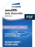 Soflens Daily Disposable Package Insert