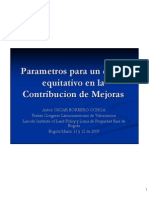 Cobro Equitativo Valorizacion - Osacar Borrero - Bogota