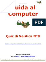 Guida al Computer - Quiz di verifica N°9