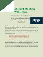 Secret Night Meeting With Jesus