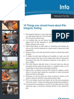 10 Things You Should Know About Pile Integrity Testing