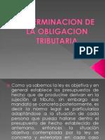 Determinacion de La Obligacion Tributaria