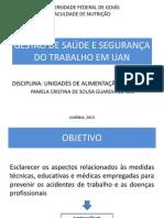 GESTÃO DE SAÚDE E SEGURANÇA DO TRABALHO EM UAN