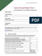 Pendle Community Radio Annual Report 2012