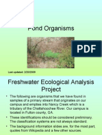 Pond Ecological Analysis