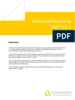 Numerical Reasoning Test1 Solutions