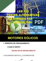 Fontes Alternativas de Energia Na Agricultura