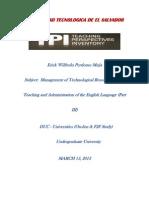 TPI Profile Sheet