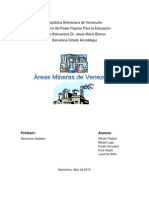 Areas Mineras de Venezuela