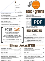 April Jax Dinner Menu