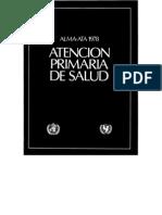 Alma Ata-Atencion Primaria en Salud II Clase