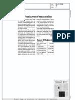 Webank, presto banca online (Borsa & Finanza, 26/07/2008)