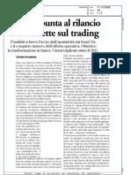 Webank punta al rilancio e scommette sul trading (Borsa & Finanza, 11/10/2008)