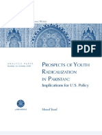 Prospects of Youth Radicalization in Pakistan