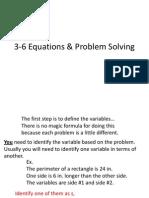3 6 Equations Amp Problem Solving