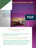 Diapositiva Normalizacion en El Peru