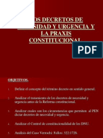 Decretos de Necesidad y Urgencia