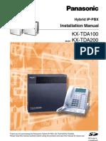 Install Manual KX TDA100