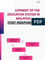 Development of the Education System in Malaysia