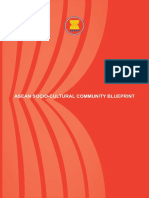 SOCIO CULTURE ASEAN COMMUNITY BLUEPRINT