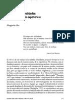 22-506zuh Tiempo y Temporalidades.. Los Confines de La Experiencia - Margarita Baz