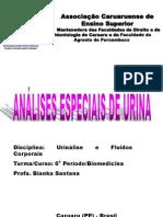 ANÁLISES ESPECIAIS DE URINA