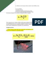 El cálculo de la resistencia a utilizar en caso de que se desee conectar varios LEDs en serie será