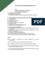 MANUAL PARA SOLICITUDES  DOTACIÓN INSTRUMENTAL 2013