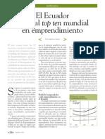 Ecuador Entro Al Top TEN Mundial de Emprendimento