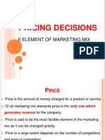 Mps- Pricing Decisions