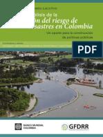 Analisis de La Gestion Del Riesgo de Desastres en Colombia 2012