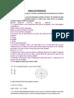 Banco Preguntas Matematica