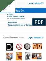 Aseguramiento Calidad CFT ProAndes Alumnos Unid 1
