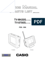 Casio TVC LCD 4,0'' TV-M420S, 8700S Service Manual