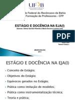SLIDE DE ESTÁGIO E DOCÊNCIA (1)