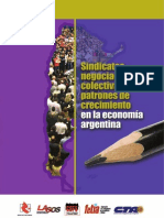 Sindicatos Negociacion Colectiva y Patrones de Crecimiento en La Economia Argentina (1)